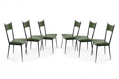 Structure de la chaise en métal par Colette Gueden