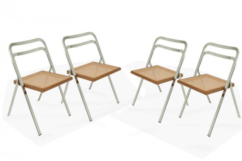 Chaises pliantes par Giorgio Cattelan (Italie 1970, lot de 4)