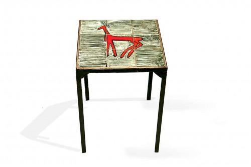 Table d'appoint en céramique de Jean et Robert Cloutier