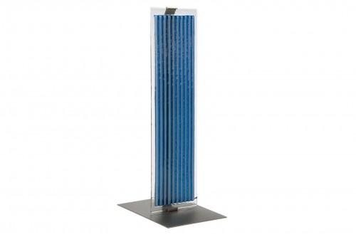 Lampe de bureau en verre bleue