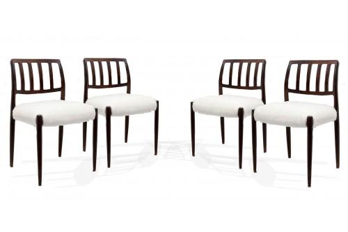 Chaises modèle 83 par Niels Otto Moller (lot de 4)
