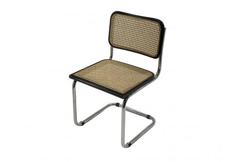 "Chaise B32 Cesca noire ""Made in Italy"" de Marcel Breuer"