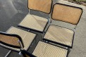 """Lot de 8 chaises B32 noir """"Made in Italy"""""""