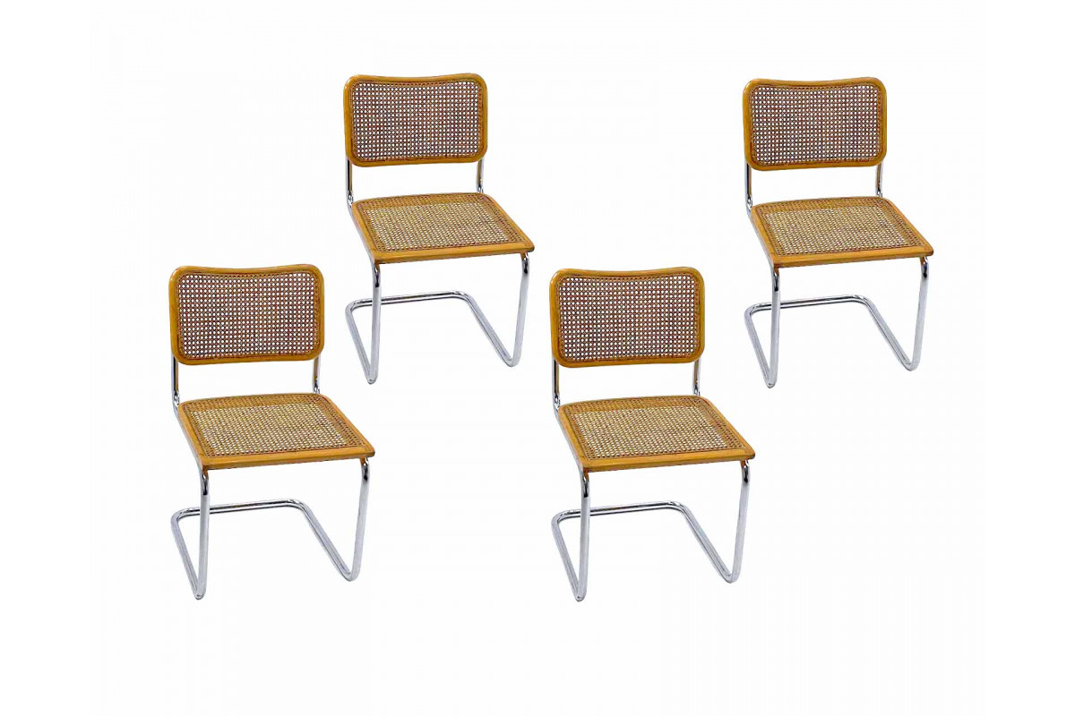 """Lot de 4 chaises B32 beige """"Made in Italy"""""""