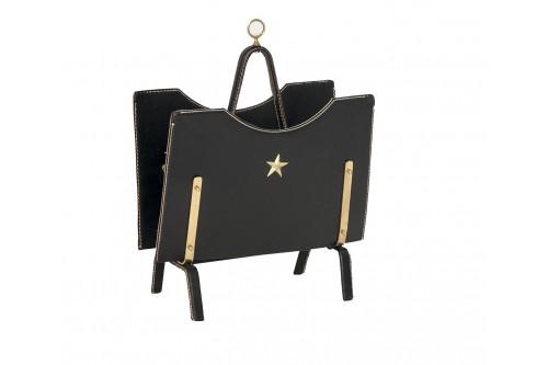 Porte-revues cuir de Jacques Adnet pour Hermès