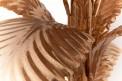 Lampadaire en métal doré, feuilles détail
