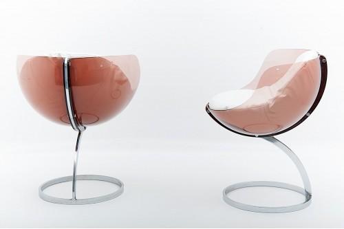 Paire de Chaises modèle Spère par Boris Tabacoff pour Mobilier Modulaire Moderne (France 1970)