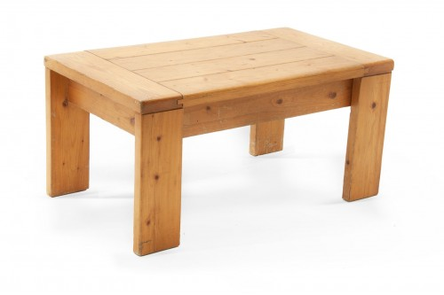 Table basse, par Charlotte Perriand, les arcs 1960