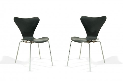Chaises modèle 3107 de Arne Jacobsen pour Fritz Hansen, Denmark 1955