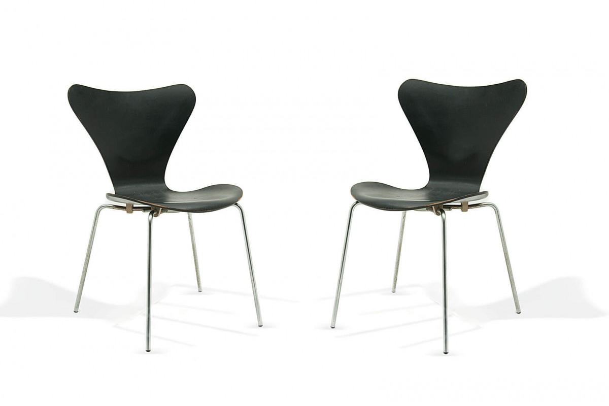 Chaise modèle 3107 de Arne Jacobsen pour Fritz Hansen, Denmark 1955