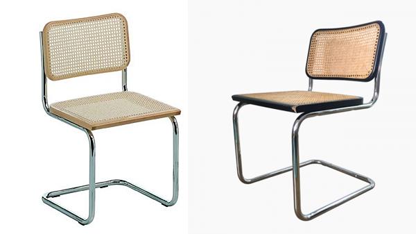 chaise cesca marron, noir