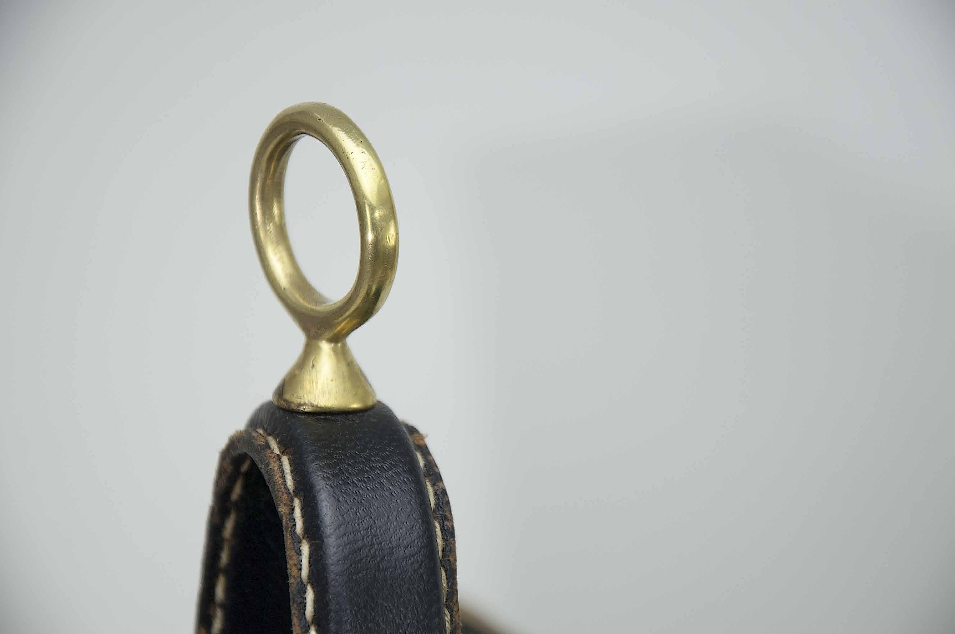 anneau laiton porte-revues cuir Adnet.jp