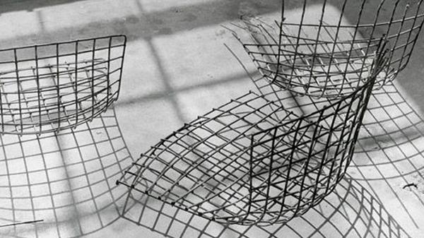 chaise treillis bertoia metal