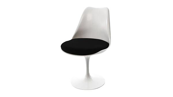 chaise tulipe noire knoll