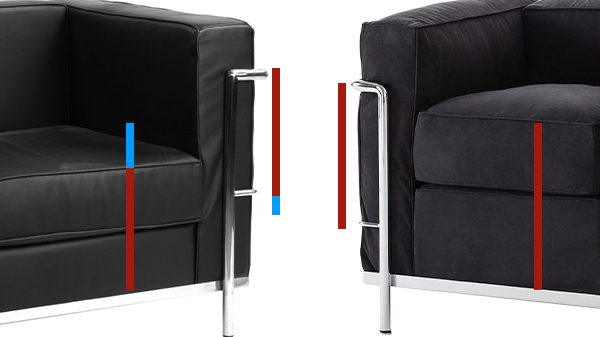 dimensions fauteuil LC2