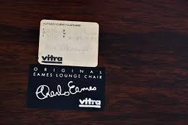 étiquette Vitra Original Eames Lounge Chair