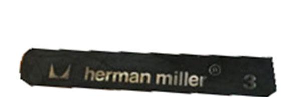 étiquette noire Herman Miller