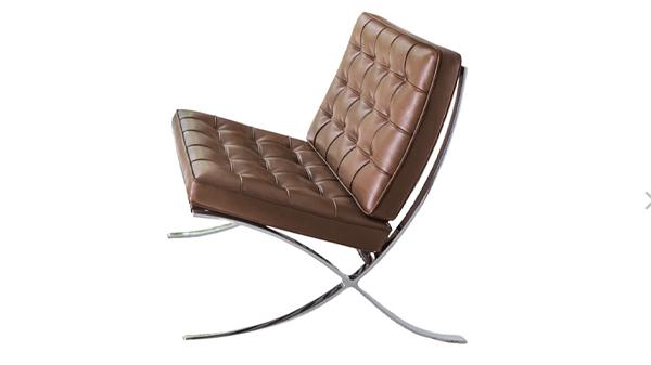fauteuil barcelona brun