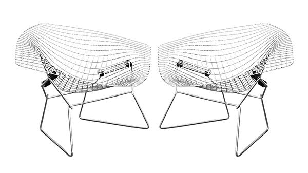fauteuil harry bertoia, knoll