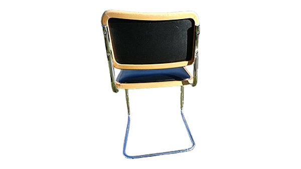 chaise b32 simili cuir noir